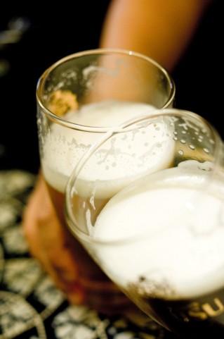 生ビール乾杯