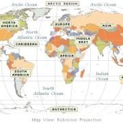南半球の地図は南が上?